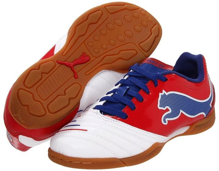 Puma Kids - PowerCat 4.12 IT Jr (Toddler/Youth) (White/Ribbon Red/Limoges) - Footwear