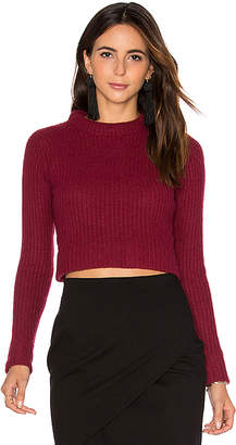 Autumn Cashmere Cropped Sweater in Burgundy $220 thestylecure.com
