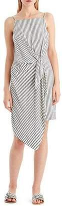 Jason Wu GREY Striped Tie-Front Sleeveless Dress