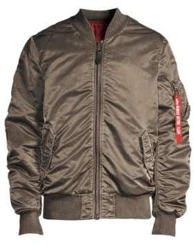 Alpha Industries Battleworn Ruched Bomber Jacket