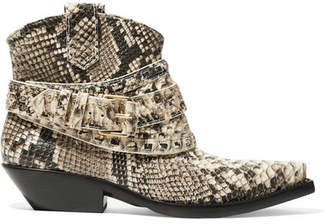 Zimmermann Snake-effect Leather Ankle Boots - Snake print