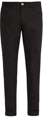 Prada Mid Rise Straight Leg Jeans - Mens - Black