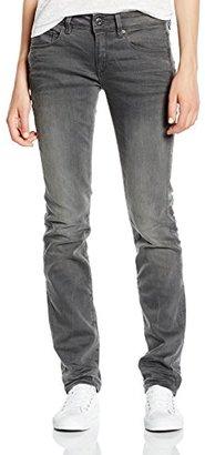 G-Star Raw Women's Attacc Midrise Straight Slander Grey Super Stretch Medium Aged Jean $102 thestylecure.com