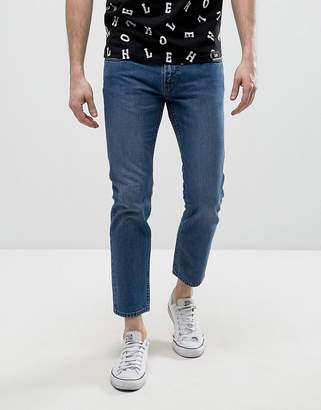House of Holland X Lee Zip Powell Slim Jeans Mid Wash