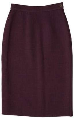 Etro Wool Knee-Length Skirt w/ Tags
