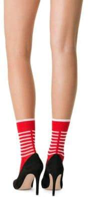 Fogal Ikena Striped Crew Socks