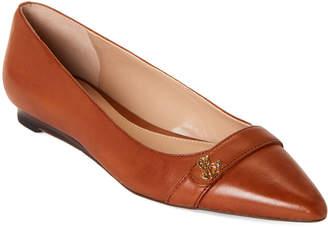 Lauren Ralph Lauren Deep Saddle Aminah Pointed Toe Flats