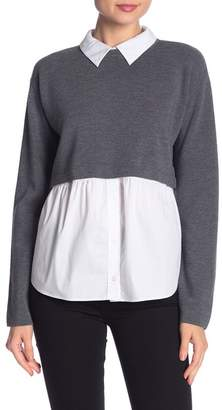 Milly Cropped Removable Hem Wool Sweater