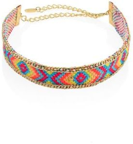 Ettika Woven Rainbow Choker $45 thestylecure.com