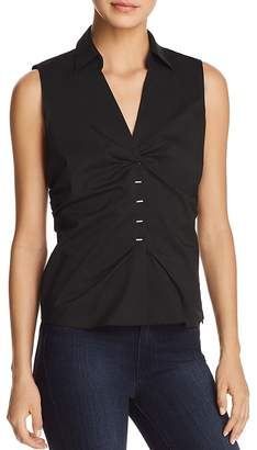Elie Tahari Vichi Ruched Sleeveless Blouse - 100% Exclusive