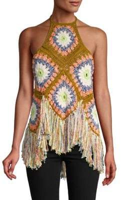Free People Summer Of Love Halter Cotton Top