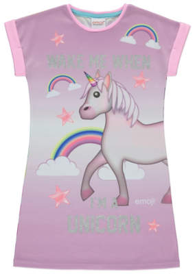 Emoji Wake Me Up When I'm a Unicorn Nightshirt