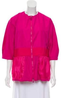 Moncler Mesh-Accented Zip-Up Jacket