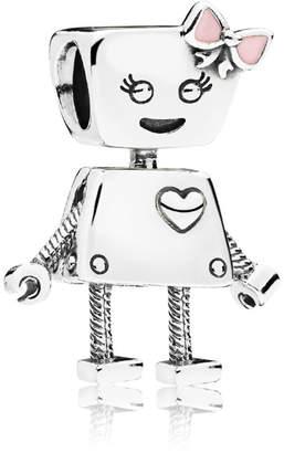 Pandora Bella Bot Charm - Enamel / Sterling Silver / Pink