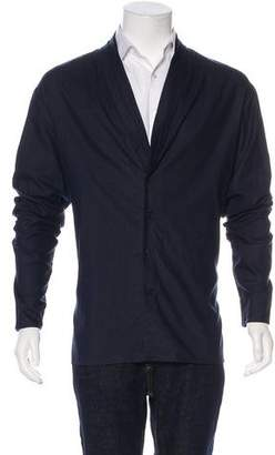 Rochambeau Woven Button-Up Cardigan