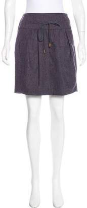 Brunello Cucinelli Wool Mini Skirt