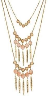 Lucky Brand Nouveau Americana Multi-Stone Removable Layered Necklace