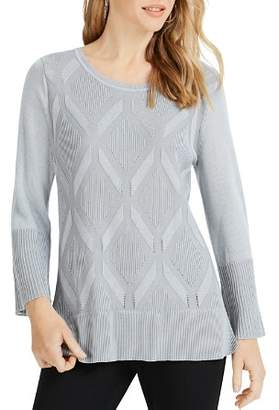 Foxcroft Dion Diamond Knit Sweater