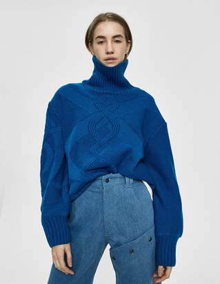 House Of Sunny Cable Knit Turtleneck Sweater