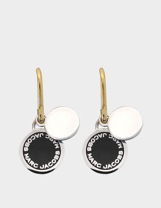 At Monnier Frères Marc Jacobs Enamel Logo Disc Earrings