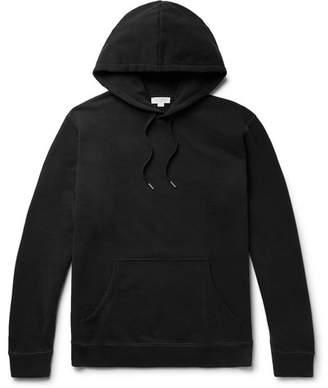 Sunspel Loopback Cotton-Jersey Hoodie - Men - Black