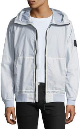 Stone Island Men's Zip-Front Hooded Jacket