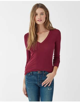 Splendid 2X1 Rib Valley V-Neck