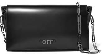 Off-White Glossed-leather Shoulder Bag - Black