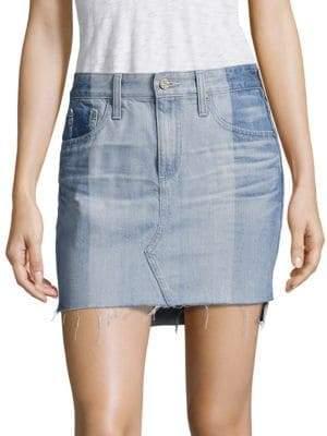 AG Jeans Sandy Colorblock Denim Mini Skirt