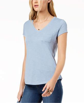 Maison Jules V-Neck Patch-Pocket T-Shirt