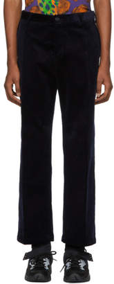 Versace Navy Corduroy Trousers