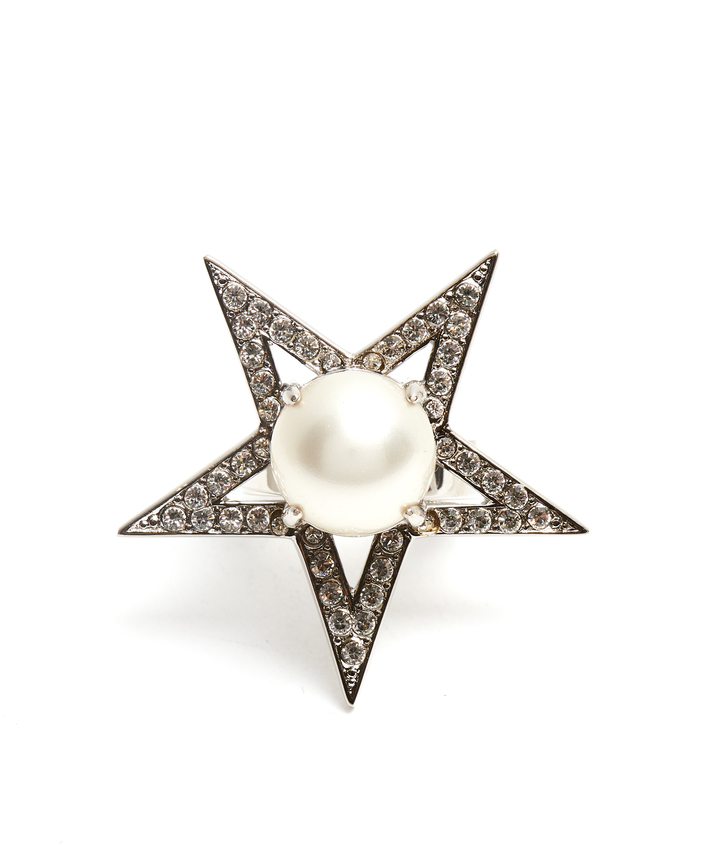 Miu Miu MIU MIU Star faux-pearl and crystal-embellished ring