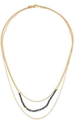 Black Diamond 18K Multistrand Necklace
