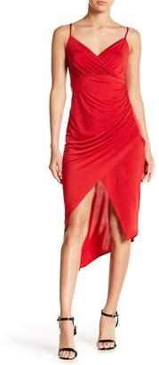 Bebe Surplice Hi-Lo Cami Dress