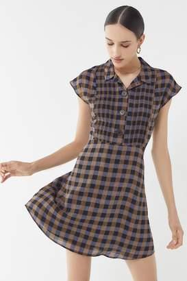 Urban Outfitters Nancy Short Sleeve Shirt Dress