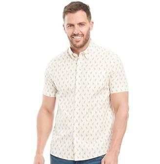 Peter Werth Mens Savanna Short Sleeve Shirt Cream