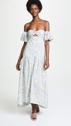 Petersyn Dove Off Shoulder Dress