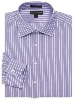 Saks Fifth Avenue BLACK Striped Slim Fit Dress Shirt