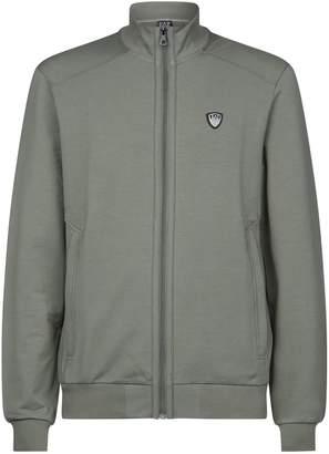 Giorgio Armani Ea7 Funnel Neck Zip-Front Sweater