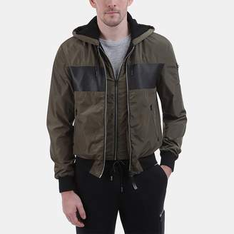 Mackage Weston Color Block Hooded Bomber Jacket