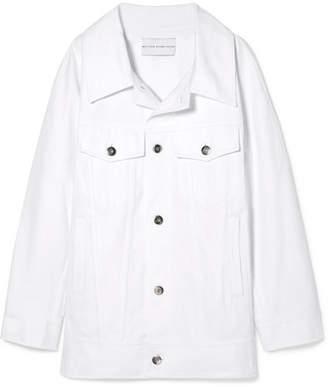 Matthew Adams Dolan - Oversized Denim Jacket - White