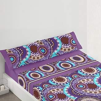 Camilla And Marc Burrito White tr3081 06 1051B Bedding Set, Cotton Blend, Purple, 39 x 27.5 x 4.5 cm