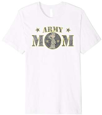 Army Mom Male Soldier Military T-Shirt