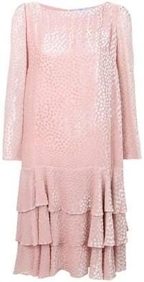 Blumarine textured polka dot shift dress