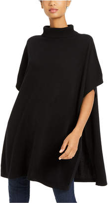Eileen Fisher Cashmere Turtleneck Poncho Sweater