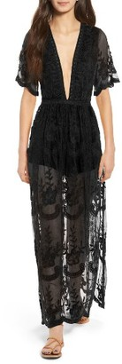 Women's Socialite Lace Overlay Romper $75 thestylecure.com