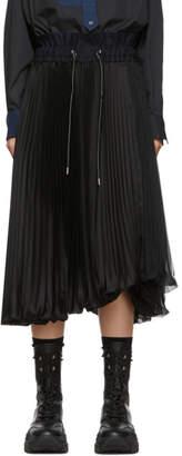 Sacai Black Pleated Skirt