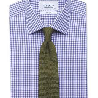 Charles Tyrwhitt Slim fit gingham purple shirt