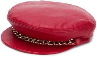 Eugenia Kim Marina chain embellished hat
