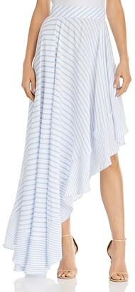 MLM Label Boston Stripe Asymmetric Skirt $198 thestylecure.com